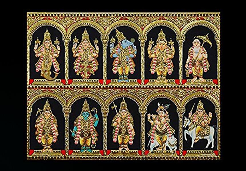 Buy Dasavatharam Tanjore Painting Online