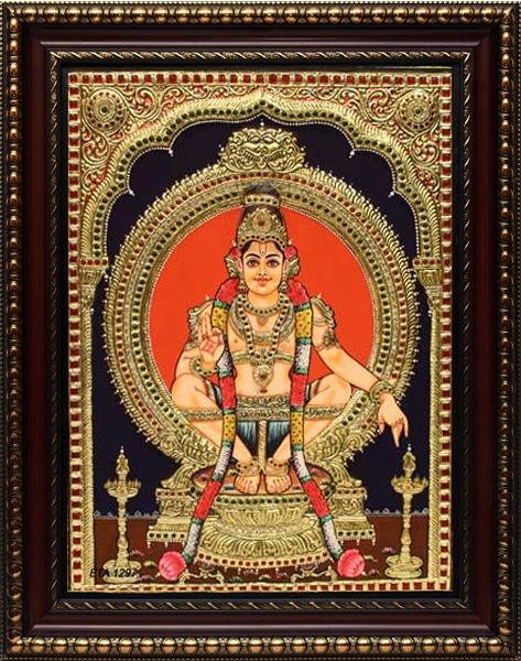 Ayyappan Tanjore Painting