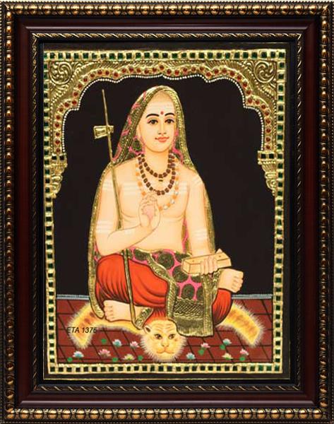 Adi Shankara Tanjore Painting
