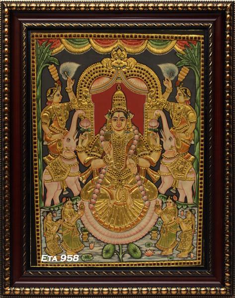 Antique Lakshmi Tanjore Painting