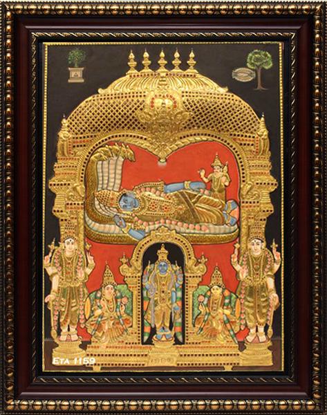 Antique Ranga Vimanam Tanjore Painting