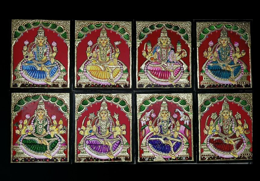 Buy Tanjore Ashtalakshmi Paintings Online