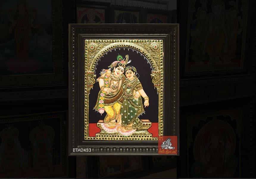 Buy Custom Made Radha Krishna Tanjore Paintings Online