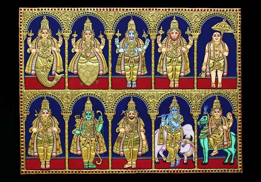 Dasavatharam tanjore paintings