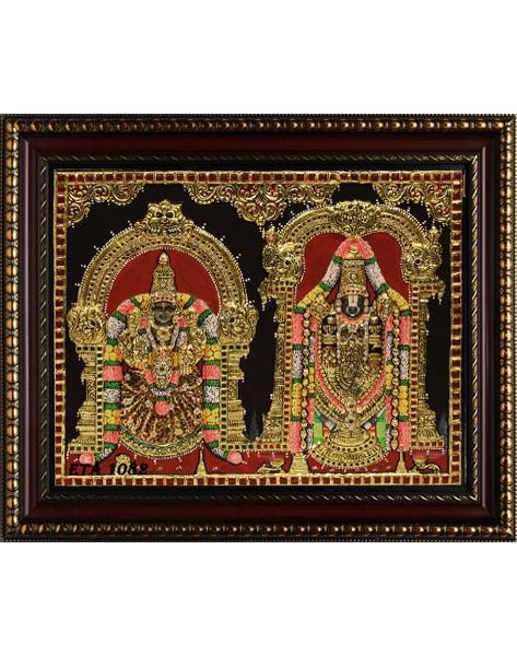 Balaji Padmavathi Tanjore Painting