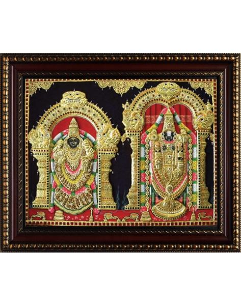 Padmavathi Balaji Tanjore Painting