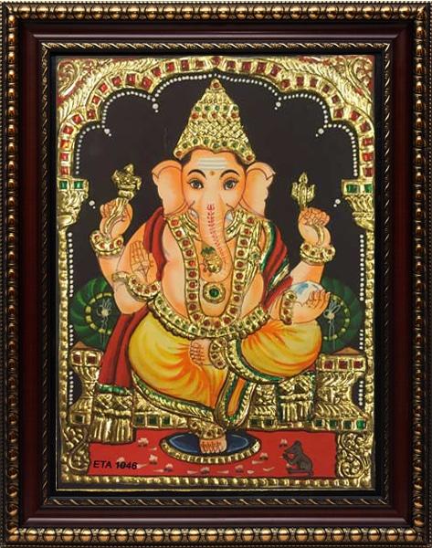 Ganesh Tanjore Painting