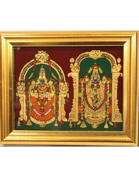Padmavathi Balaji Glass Tanjore Painting