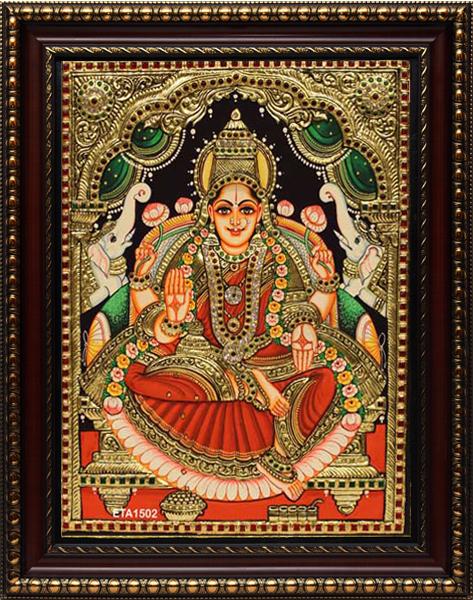 Lakshmi Semiemoss Tanjore Painting