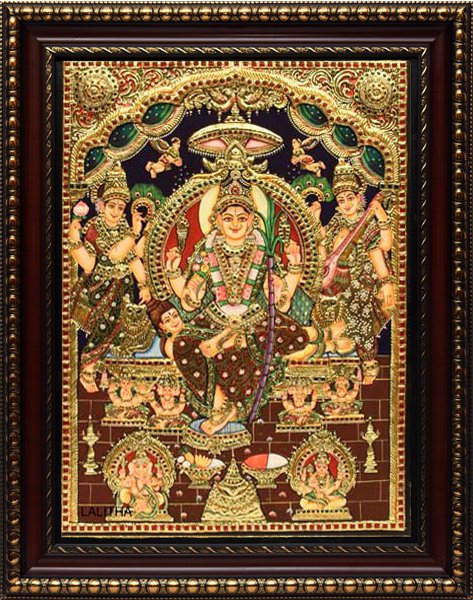 Lalitha Tanjore Painting