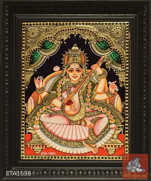 Saraswathi Tanjore Painting Online