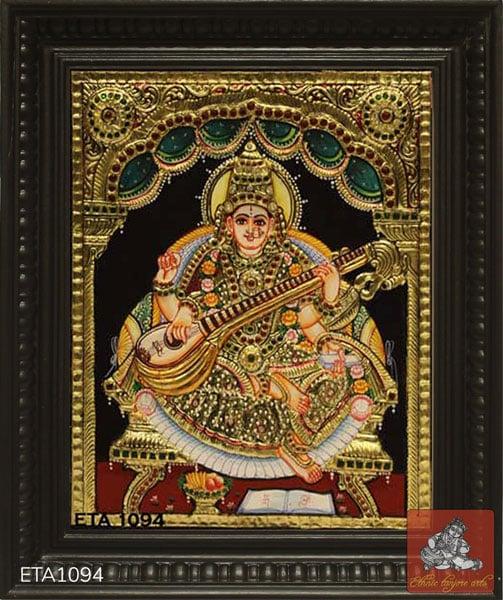 Sarawathi Tanjore Painting