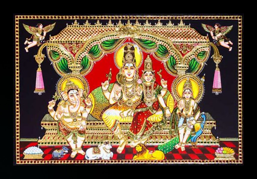 Buy Lord Shiva Tanjore Paintings Online