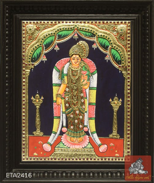 Andal Tanjore Painting