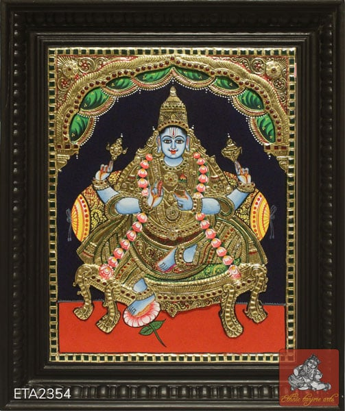 Goddess Dhanvantari Tanjore Painting