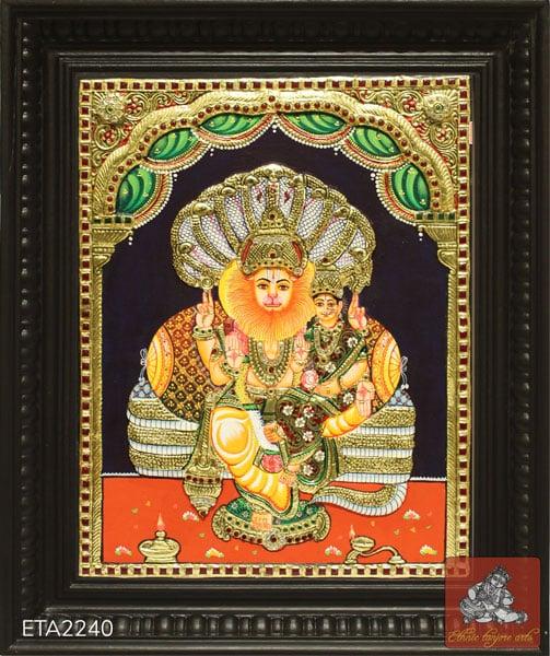 Lakshmi Narasimar Tanjore Painting