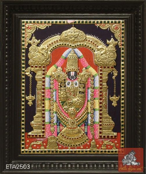 Lord Balaji Tanjore Painting (12x10)