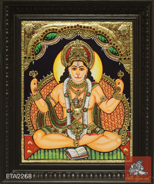 Lord Hanuman Tanjore Painting