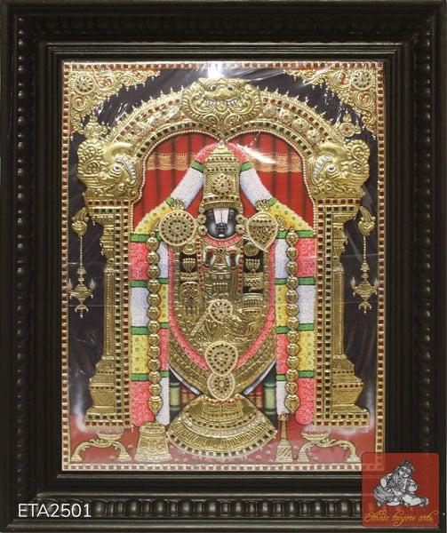 Sri Balaji Tanjore Painting