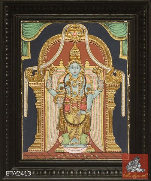 Srinivasa Perumal Antique Style Tanjore Painting