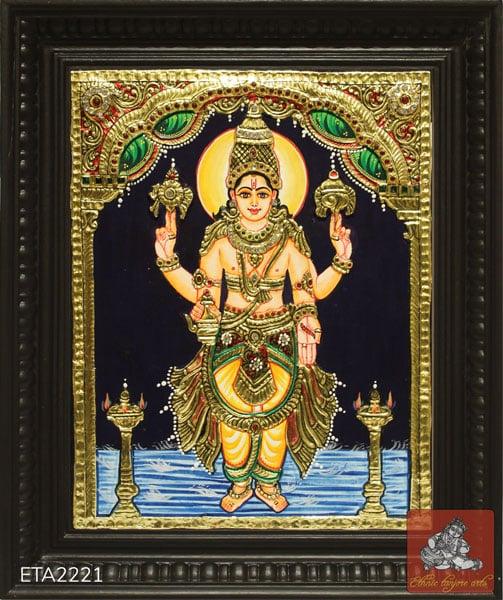 Standing Danavanthri Tanjore Painting