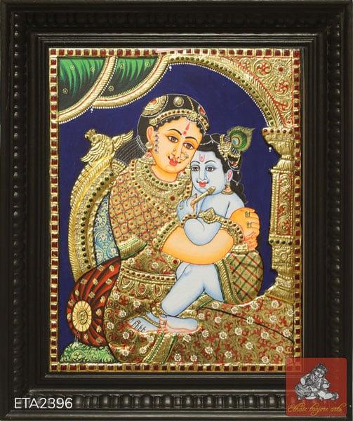 Yasoda Krishna Tanjore Painting