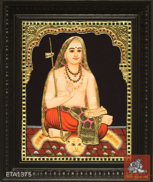 Adi Sanakara Tanjore Painting