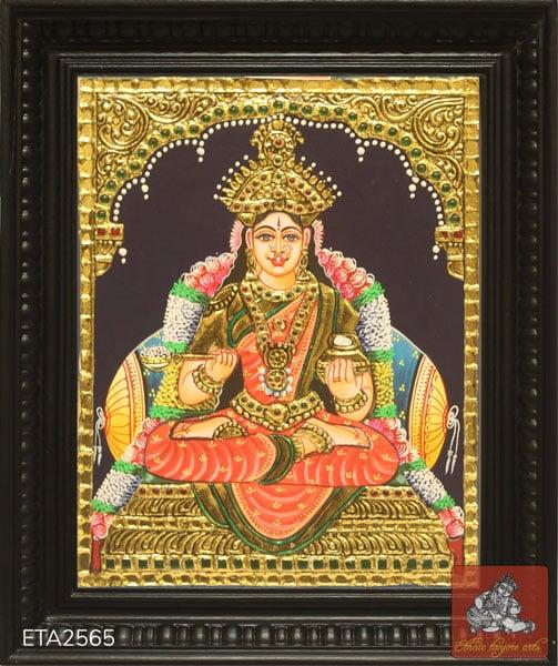 Goddess Annaporni Tanjore Painting