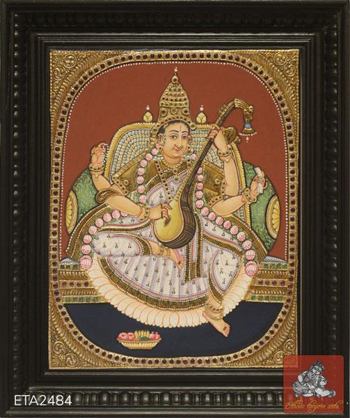 Saraswathi Antique Tanjore Painting