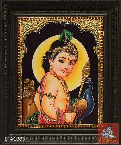 Bala Murugan Tanjore Painting
