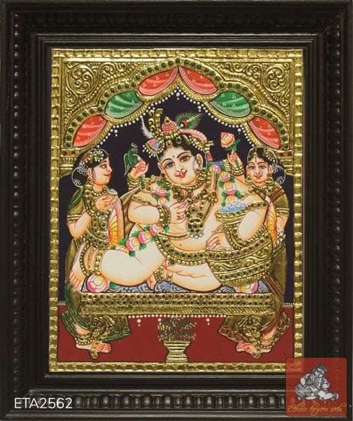 Lord Butter Krishna Tanjore Painting