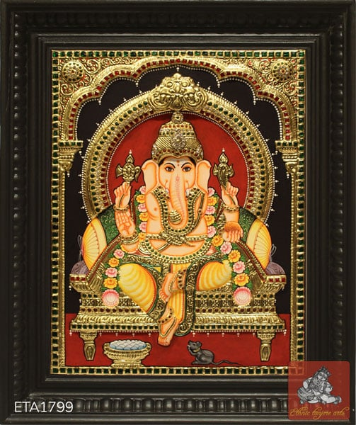 Lord Ganesh Tanjore Painting (20x16)