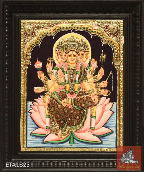 Gayathi Devi Tanjore Painting