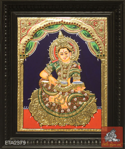 Goddess Annapoorna Tanjore Painting