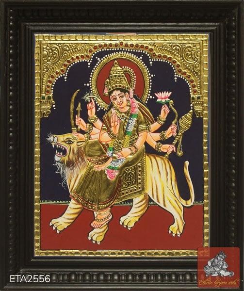Goddess Durga Tanjore Painting