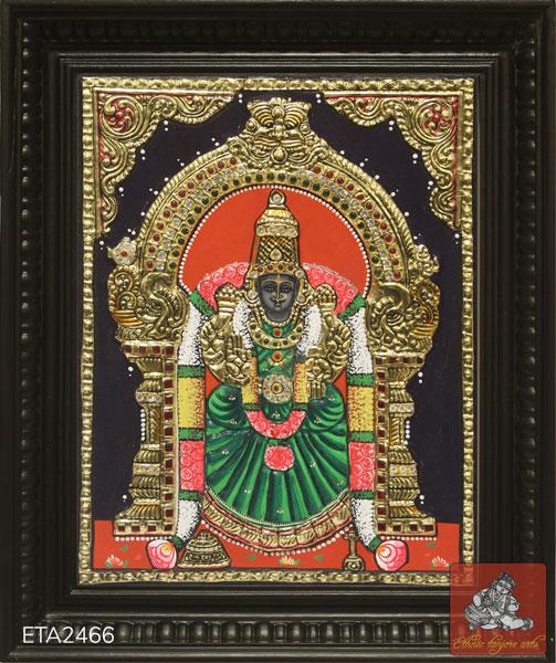 Goddess Padmavathi Tanjore Painting (12x10)
