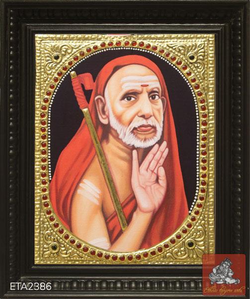 Kanchi Periyava Tanjore Painting (8x10)