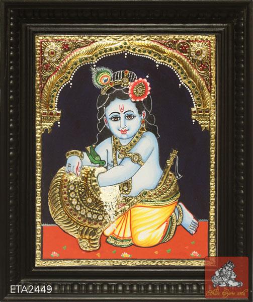 Lord Krishna Tanjore Painting