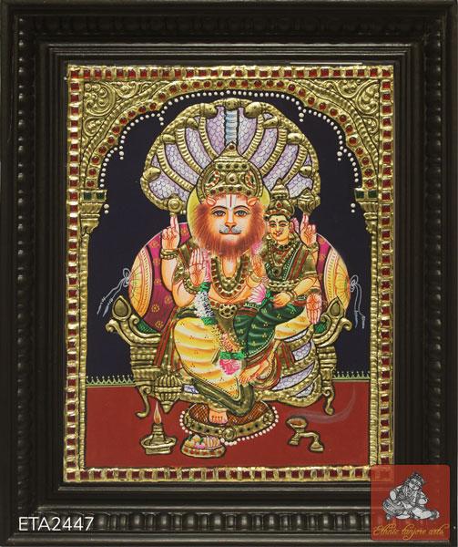 Lakshmi Narasimha Tanjore Painting (12x10)
