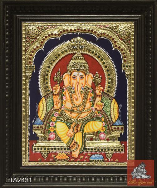 Lord Ganesh Tanjore Painting