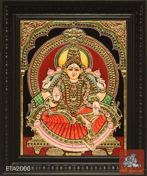 Goddess Mahalakshmi Tanjore Painting