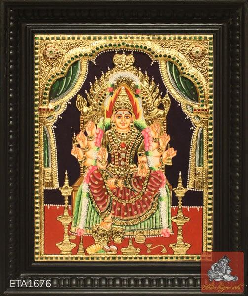 Goddess Mariamman Tanjore Painting