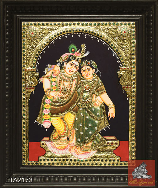 Radha Krishna Tanjore Painting(15x12)