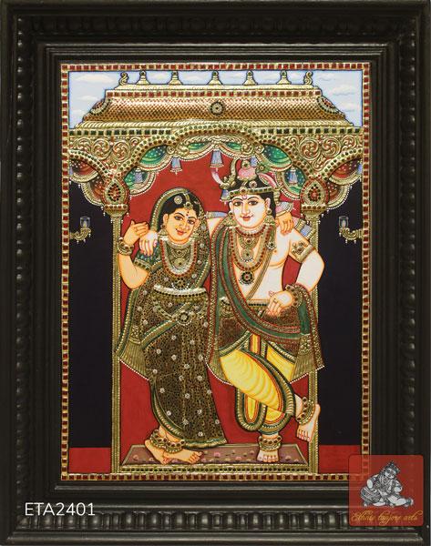 Radha Krishna Tanjore Painting (28x18)