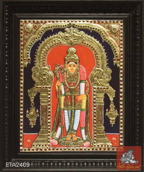 Raja Alankaram Murugan Tanjore Painting