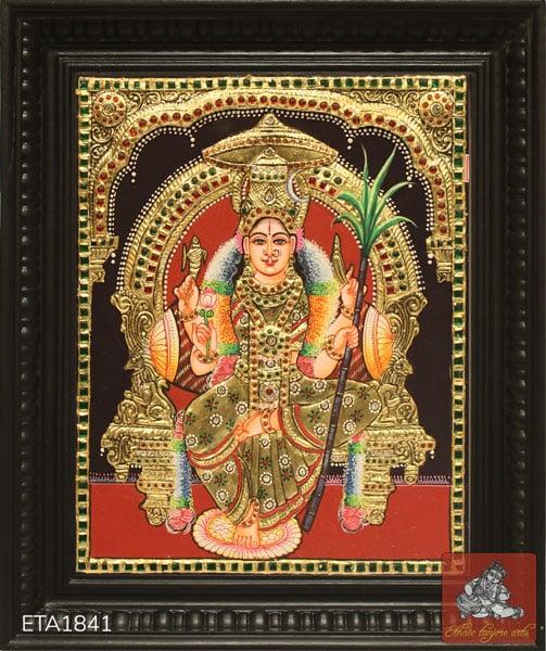 Goddess Rajeswari Tanjore Painting