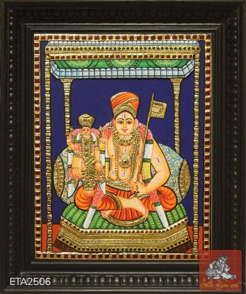 Ramanujar Tanjore Painting Tanjore Painting (12x15)
