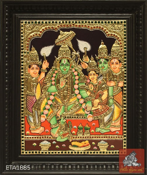 Ramar Darbar Tanjore Painting