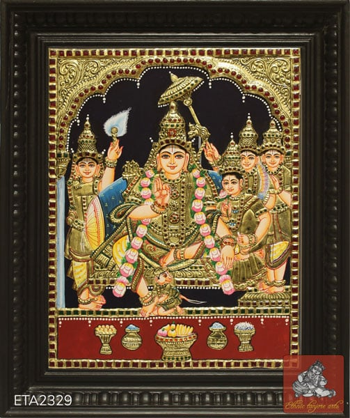 Lord Ramar Tanjore Painting (15x12)