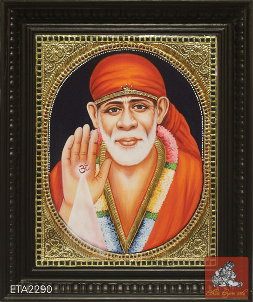 Lord Sai Baba Tanjore Painting (12x10)